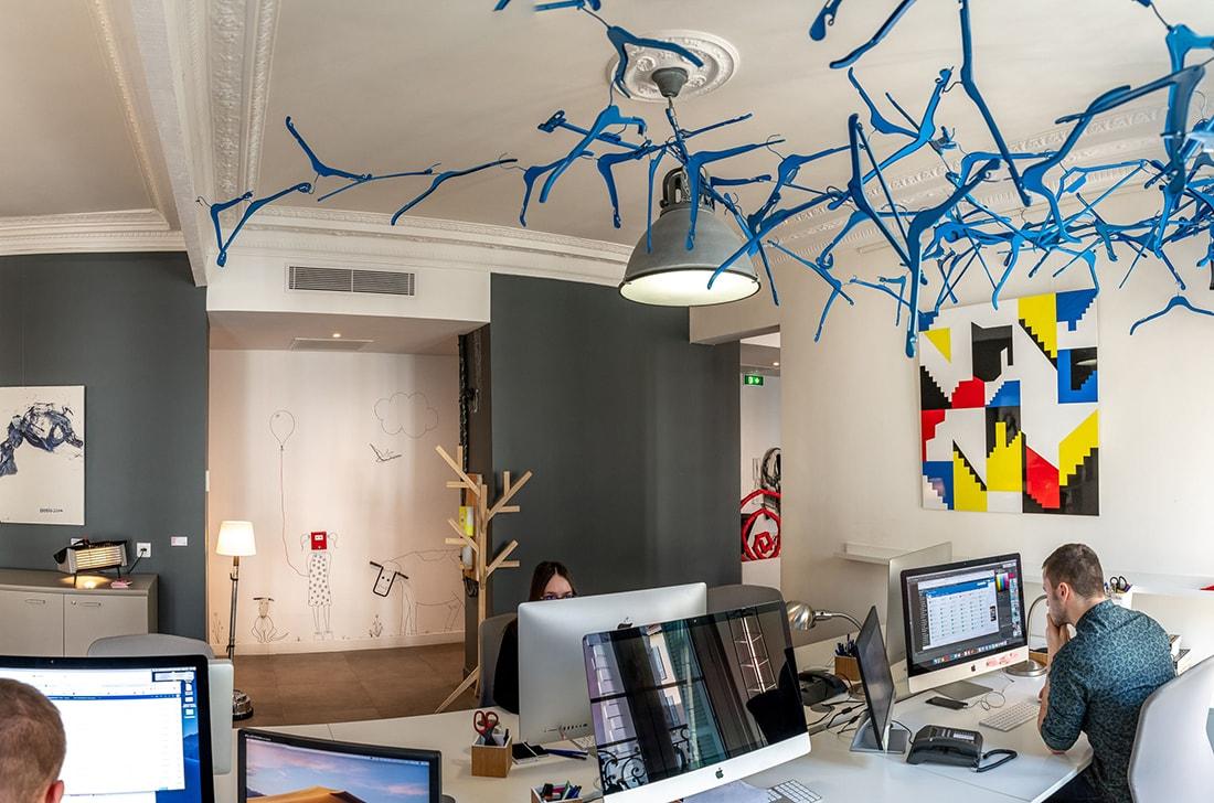 Peinture des bureaux chez MouvementCom